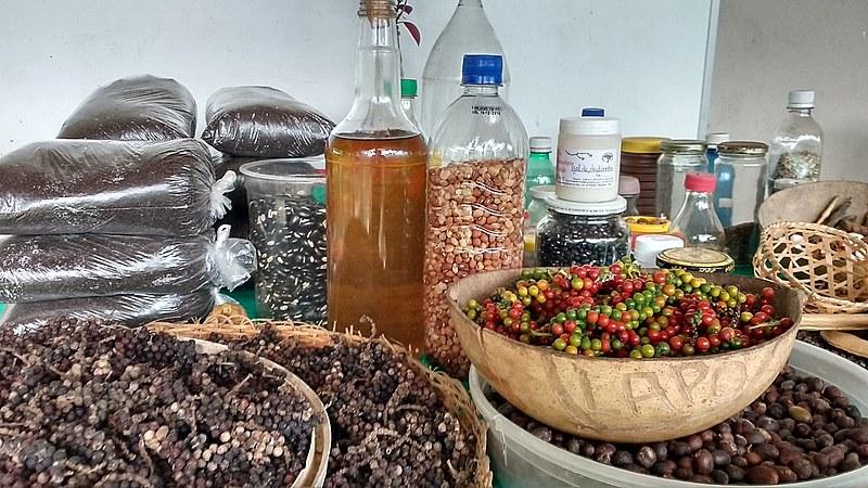 Produtos do MST oferecidos na feira orgânica de Belém do Pará