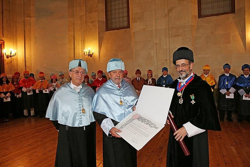 Lula recebe título Honoris Causa na Universidade de Salamanca, na Espanha, em 2014