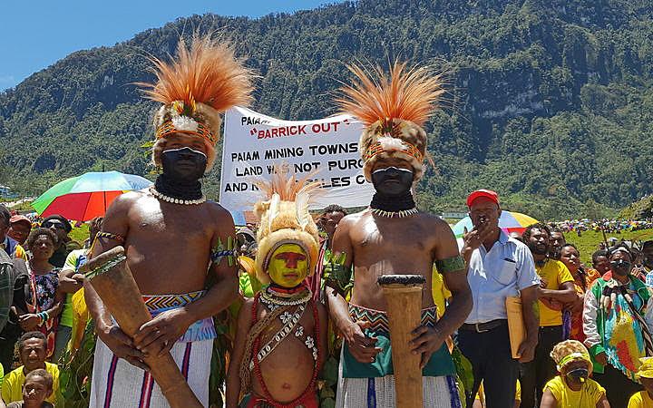 Protesto na mina de ouro Porgera, 2018