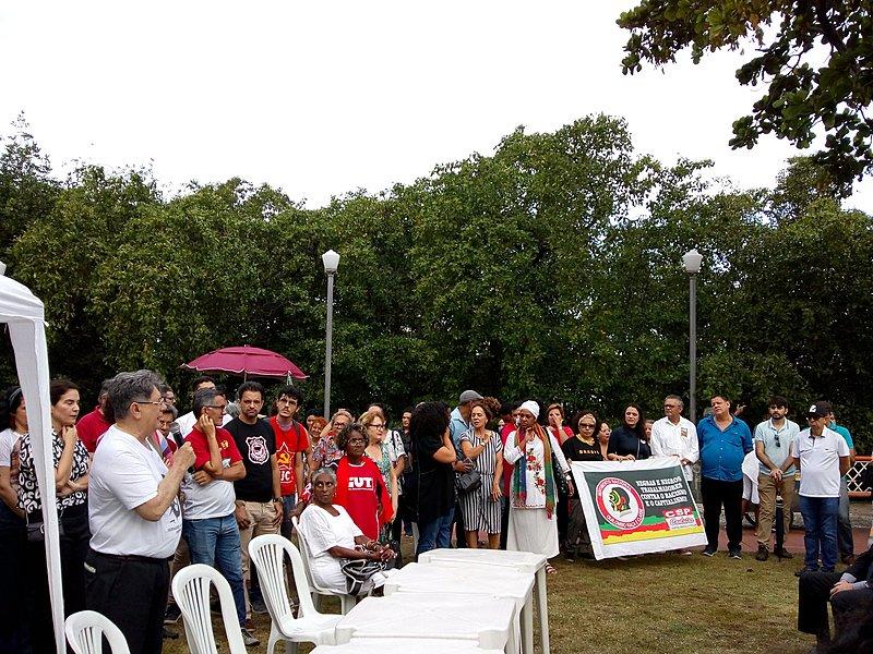 No ato, presidenta nacional do PCdoB disse ser provável que um pedido de impeachment de Bolsonaro seja protocolado em breve