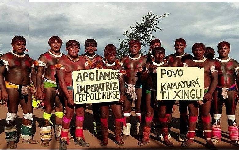 Representantes de alguns dos povos do Xingu que serão homenageados pela Imperatriz