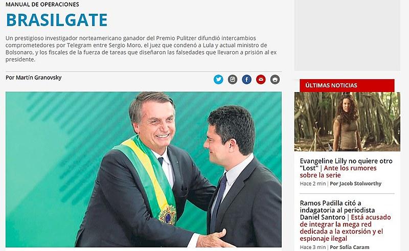 """Jornal argentino afirmou que houve """"comportamento ilegal das autoridades judiciais brasileiras"""""""