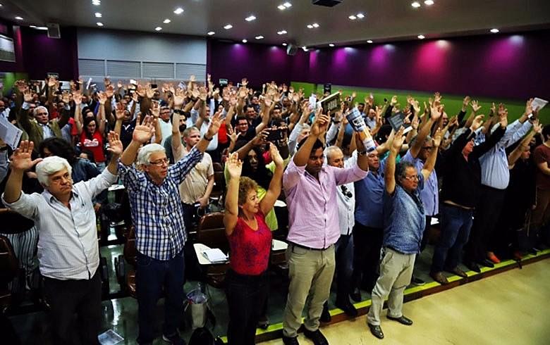 Assembleia no auditório da Escola Dieese de Ciências do Trabalho estabeleceu agenda contra ataques a direitos dos trabalhadores