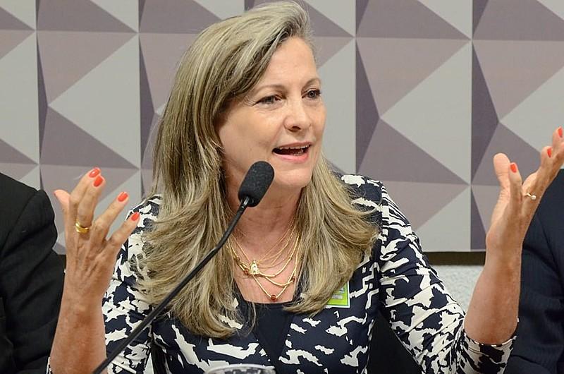 Maria Lucia Fatorelli durante audiência pública no Senado Federal, em Brasília (DF)