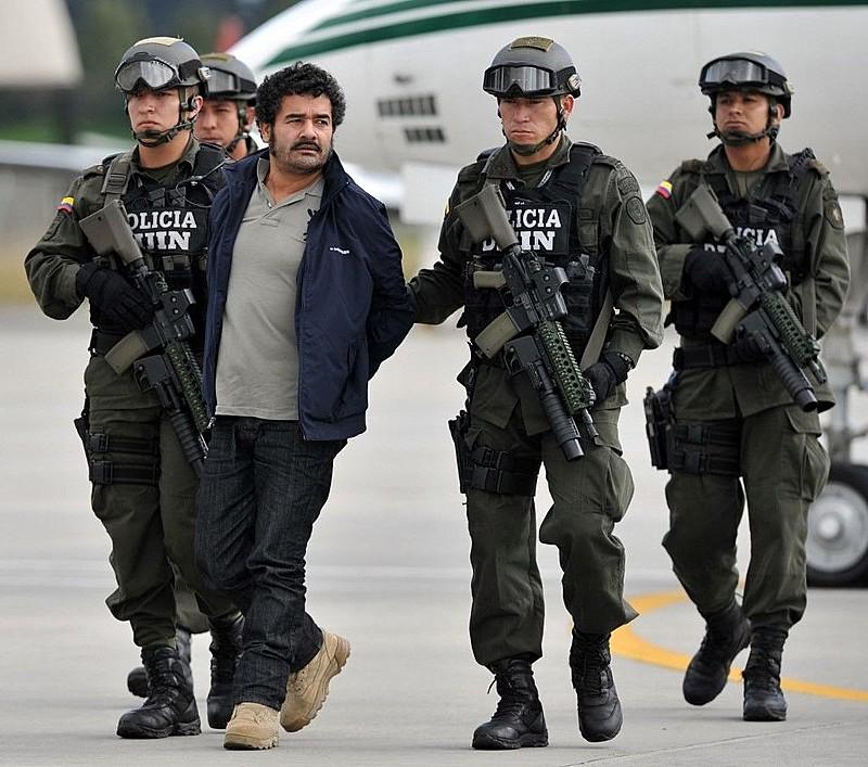 Diego Rastrojo, preso pela polícia colombiana em 2012