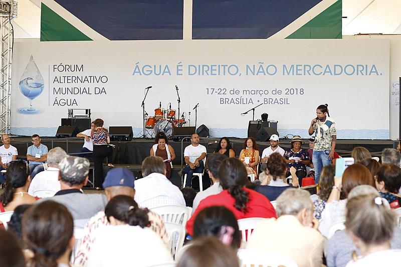Abertura do Fórum Alternativo, no Centro Comunitário da UnB