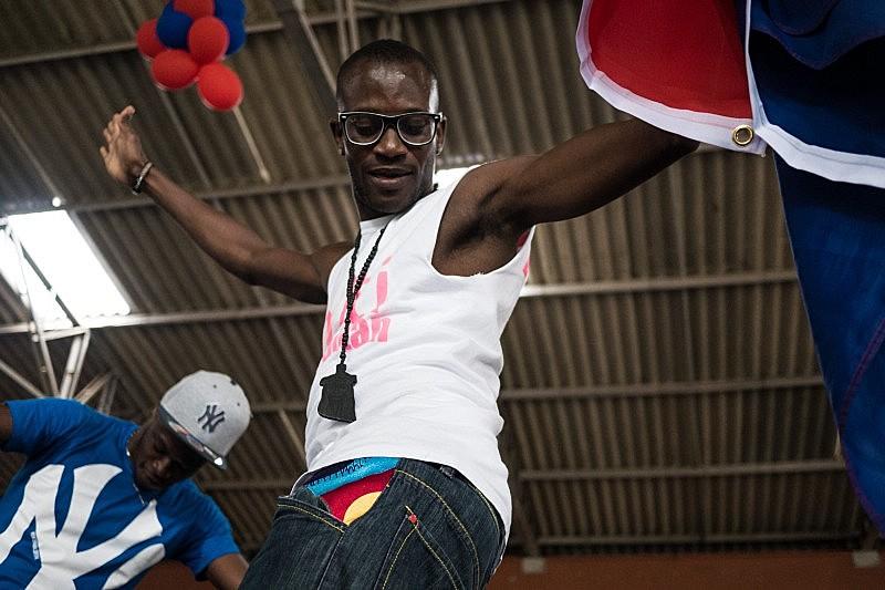 Festa haitiana que comemorou o Dia da Bandeira do Haiti, em 2015, em Curitiba