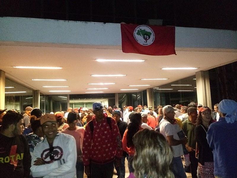 Ministério do Planejamento, em Brasília, amanheceu ocupado por cerca de mil trabalhadores.