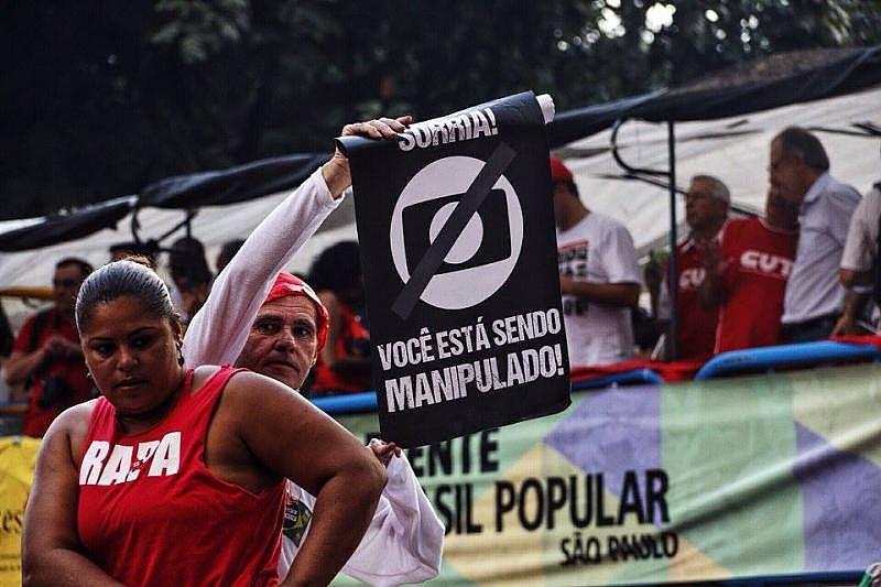 Ato no dia 18 de março em São Paulo contra a emissora.