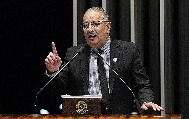 Una foto del secretario general de la Central Unica de los Trabajadores (CUT), Sérgio Nobre.
