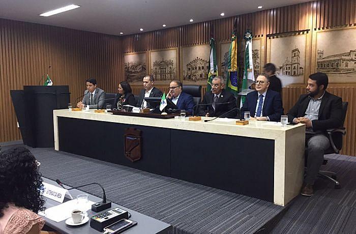 Parlamentares e instituições discutiram segurança pública em audiência convocada pelo Sindguardas