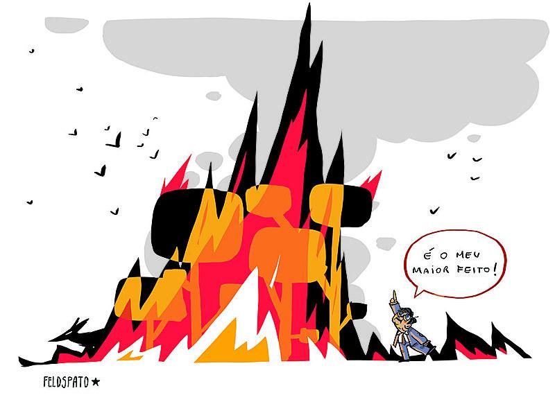 "O fogo é a forma mais rápida de ""limpar"" a terra, preparando o terreno para outros usos, como pasto para animais"