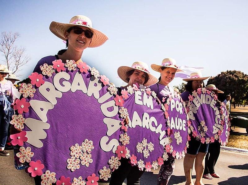 Neste mês de agosto, mais de 100 mil mulheres, vindas do campo, da floresta e das águas, se reuniram em brasília para Marcha das Margaridas
