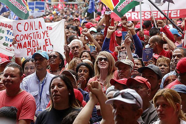 Movilización en defensa de la Asamblea Constituyente, el 4 de mayo