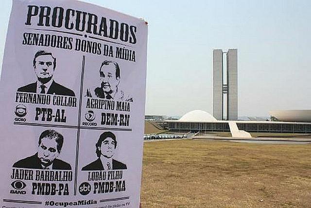 Protesta en Brasília, capital del país, contra las conseciones de medios para políticos