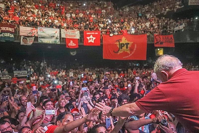 Lula em comemoração dos 40 anos do PT, no RJ