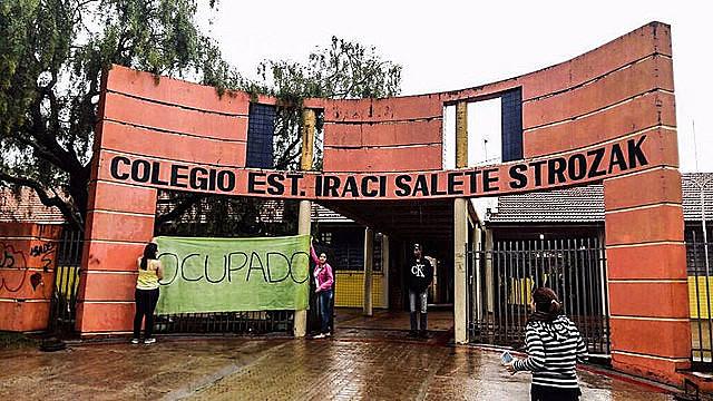 Colegio Estadual Iraci Salete Strozak, en Rio Bonito do Iguaçu, en Paraná, foi ocupado en la ultima semana