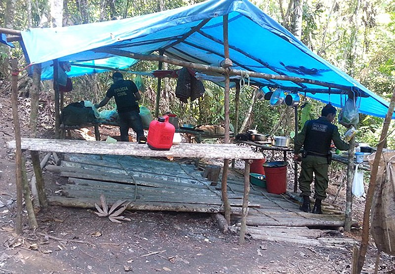 Policiais civis e militares resgatam pessoas em situação de trabalho escravo em Rurópolis - PA