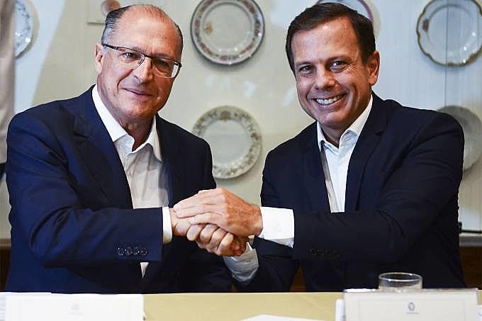 Alckmin e Doria anunciaram juntos o reajuste da integração para manter a promessa do prefeito de não aumentar a tarifa