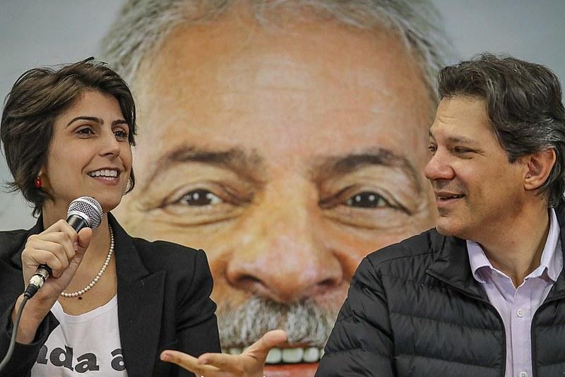 Agenda de Fernando Haddad eManuela D'Ávila, da chapa de Lula, não tem tido o mesmo espaço na tevê como a de outros candidatos