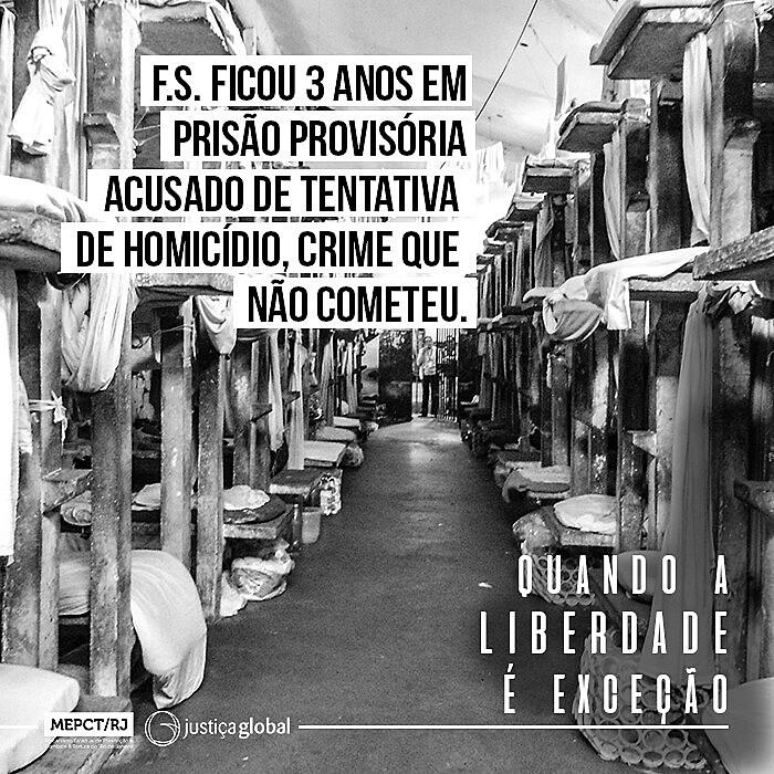 """Divulgação do estudo """"Quando a liberdade é exceção - A situação das pessoas presas sem condenação no Rio de Janeiro"""""""
