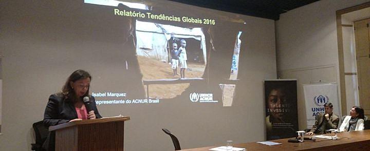 Lançamento do relatório Tendências Globais, da Agência da ONU para Refugiados, em São Paulo