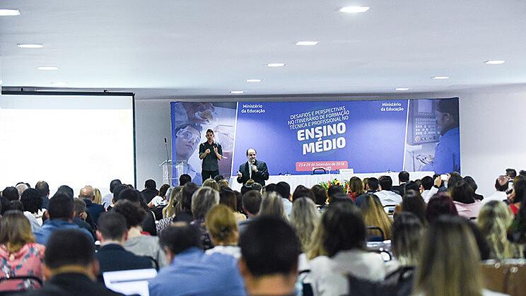 Seminário Desafios e Perspectivas no Itinerário de Formação Técnica e Profissional do Ensino Médio aconteceu no fim de setembro no MEC