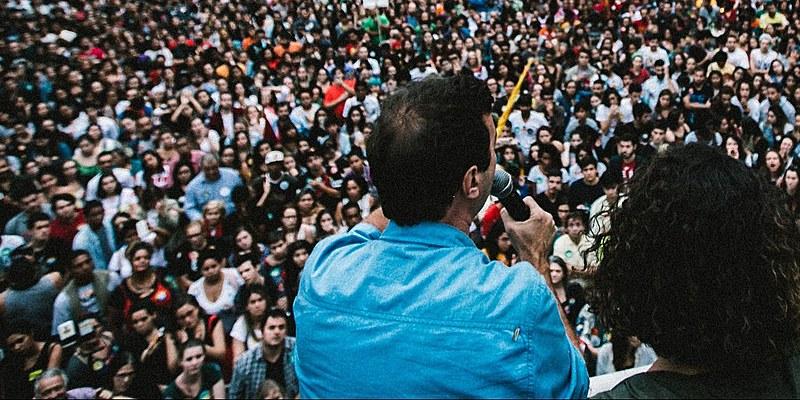 Campanha de Marcelo Freixo (PSOL-RJ) quando era candidato a prefeito do Rio de Janeiro