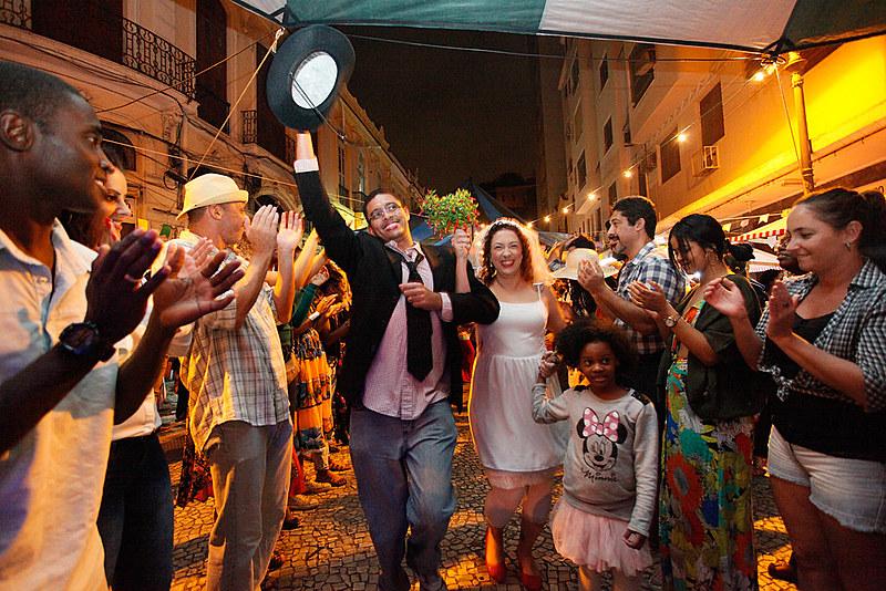 O evento teve início no ano passado, inspirado nas famosas festas juninas que aconteciam nos anos 1970 e 1980 no Morro da Conceição