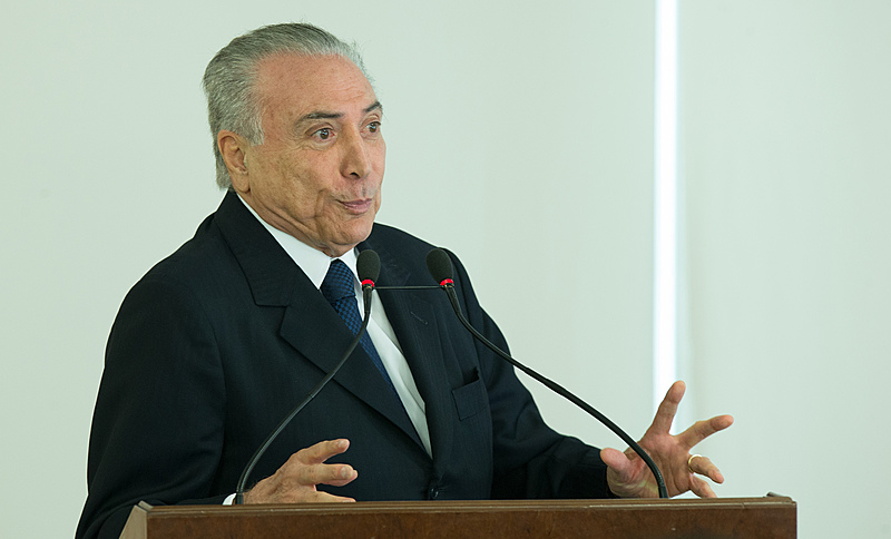 Presidente Temer durante a Cerimônia de posse do Ministro da Cultura, Roberto Freire, no Palácio do Planalto