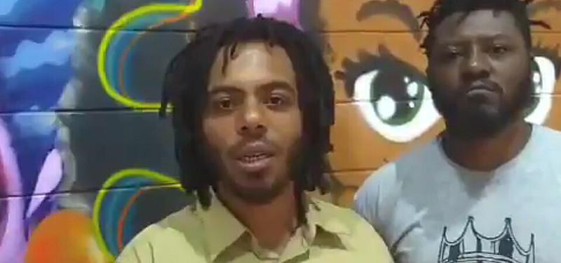 Ao centro, Valter Rocha, funcionário do Metrô de São Paulo