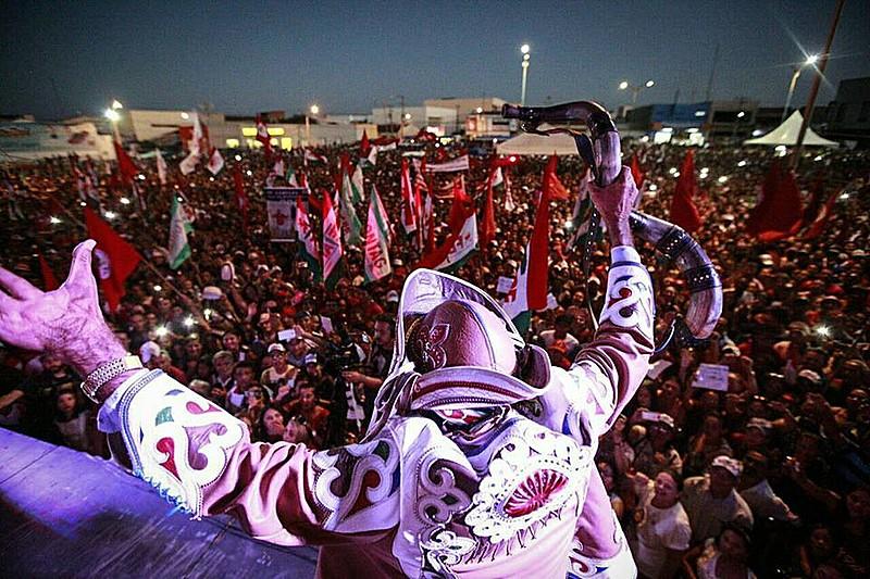 Lula em ato em Ouricuri, Pernambuco.