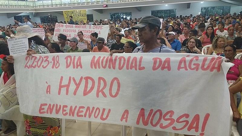 A água em 26 localidades de Barcarena apresentaram metais pesados causados pelas indústrias