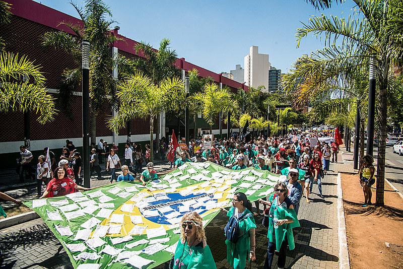 Grito dos Excluídos realizado em 2018, em Belo Horizonte