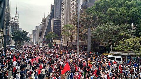 """Ato """"Fora, Temer"""" neste domingo (4), na Avenida Paulista, em São Paulo (SP)"""