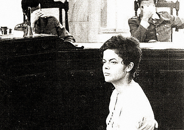 A 22-year-old Dilma Rousseff is tried at a military court hearing in Rio de Janeiro in 1970, after being tortured for more than 20 days