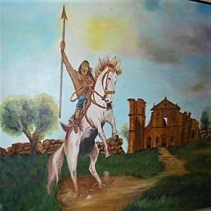 Ilustração do índio Sepé Tiaraju