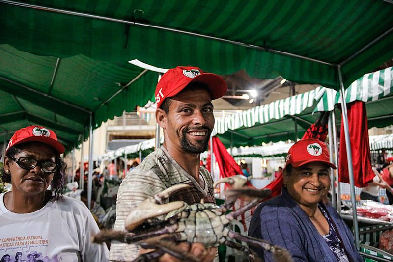 Robson vino de Sergipe, región nordeste de Brasil, para participar de la feria