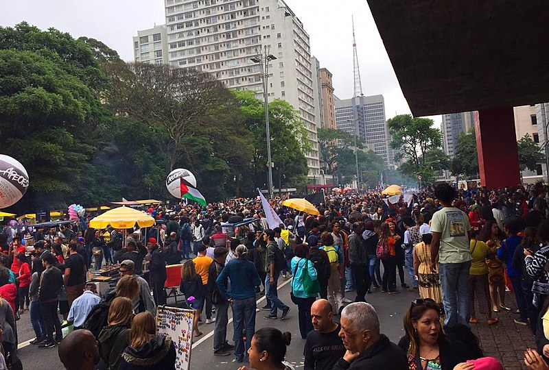 Concentração aconteceu no vão do Museu de Arte de São Paulo (Masp), a partir do meio-dia