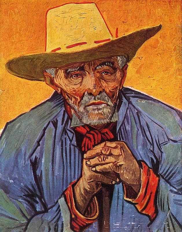 """Retrato de um camponês idoso"", de Vincent van Gogh, 1888"