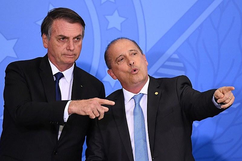 Bolsonaro e Lorenzoni, chefe da Casa Civil