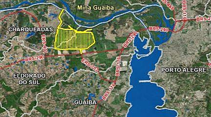 Mineração a céu aberto está prevista para ocupar uma área localizada nos municípios de Eldorado do Sul e Charqueadas