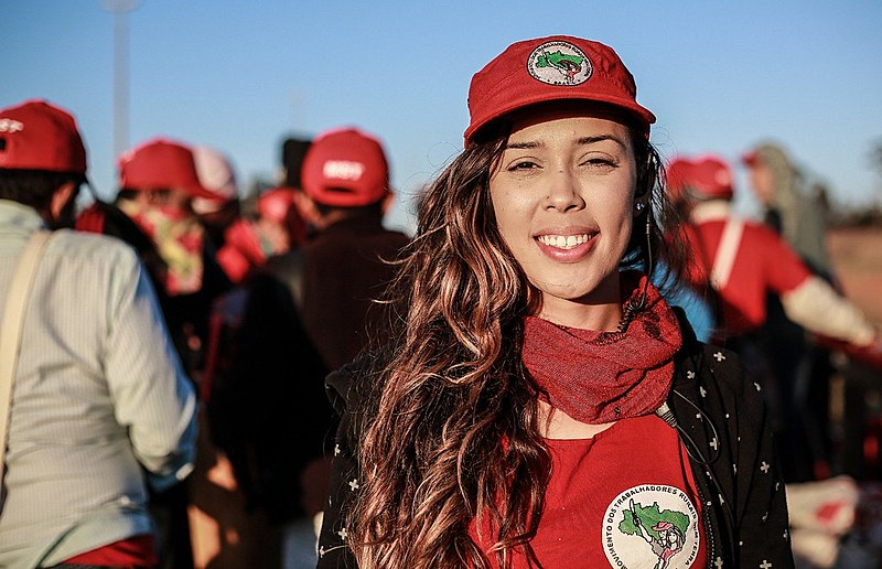 Luz Helena Marin, 22 anos, militante sem-terra