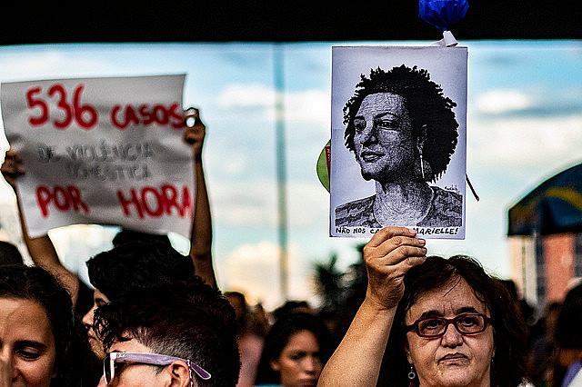 La manifestación en el centro de la ciudad de São Paulo reunió cerca de 50 mil personas este viernes (08)