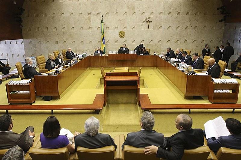 Plenário do STF no início do julgamento sobre prisão em segunda instância