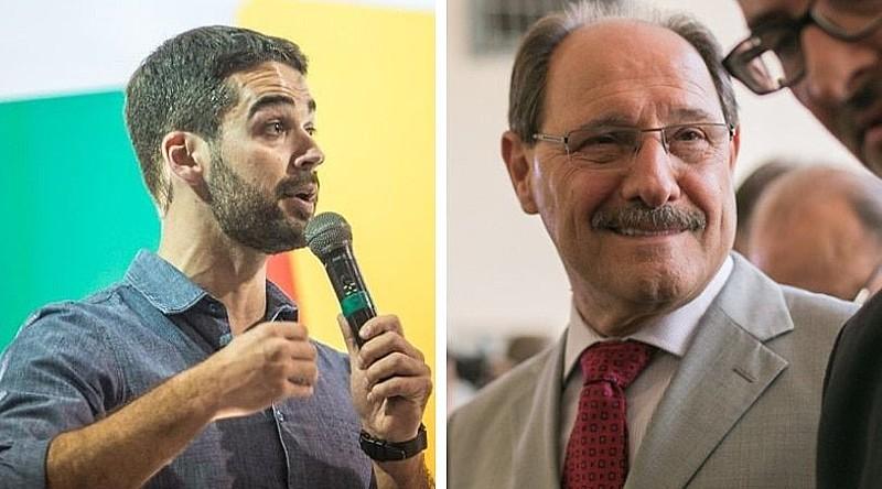 José Ivo Sartori e Eduardo Leite, candidatos ao segundo turno do Governo do RS