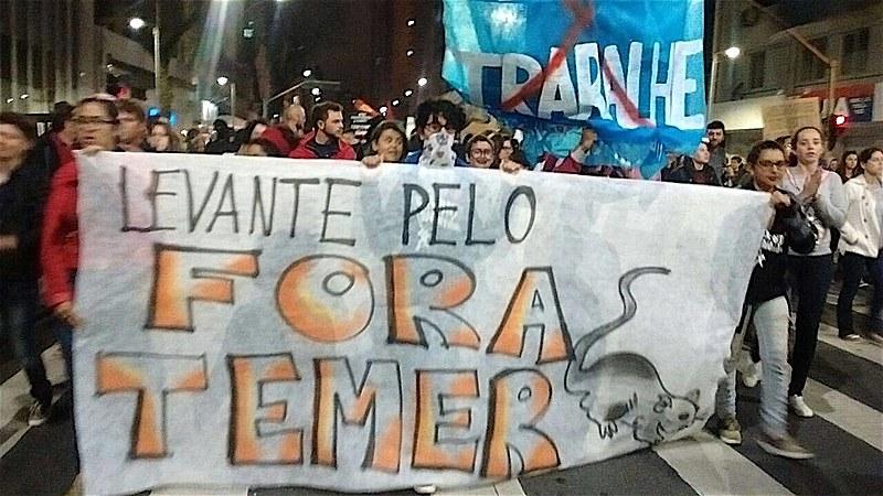 Em Curitiba, ato unificado reuniu cerca de 3 mil pessoas, com concentração na Praça Santos Andrade e marcha pela Avenida Marechal Deodoro até a Boca Maldita, onde foram realizadas apresentações culturais