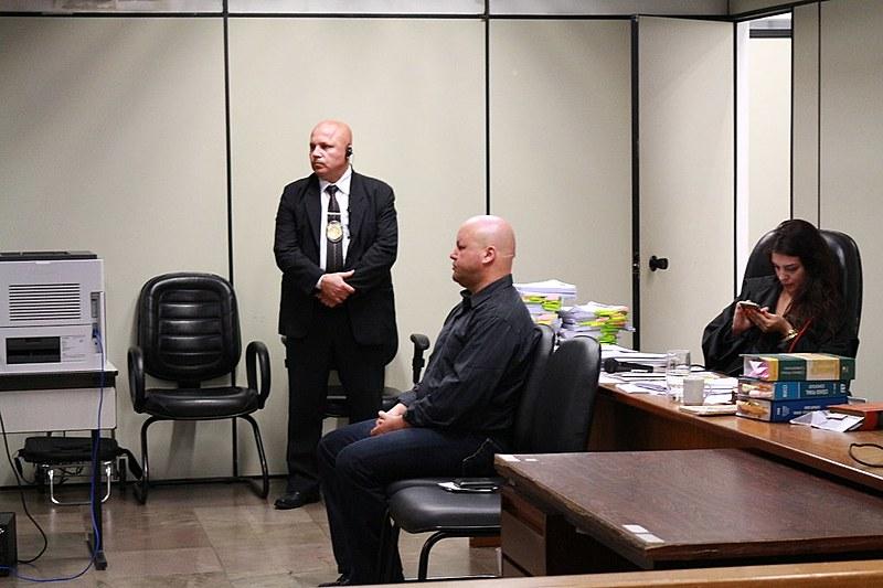 Alexandre Curto dos Santos durante júri popular que o condenou, no ano passado