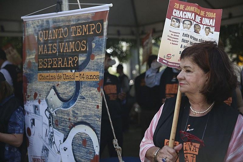 Protesto de janeiro deste ano relembra crime e cobra punição dos mandantes da chacina