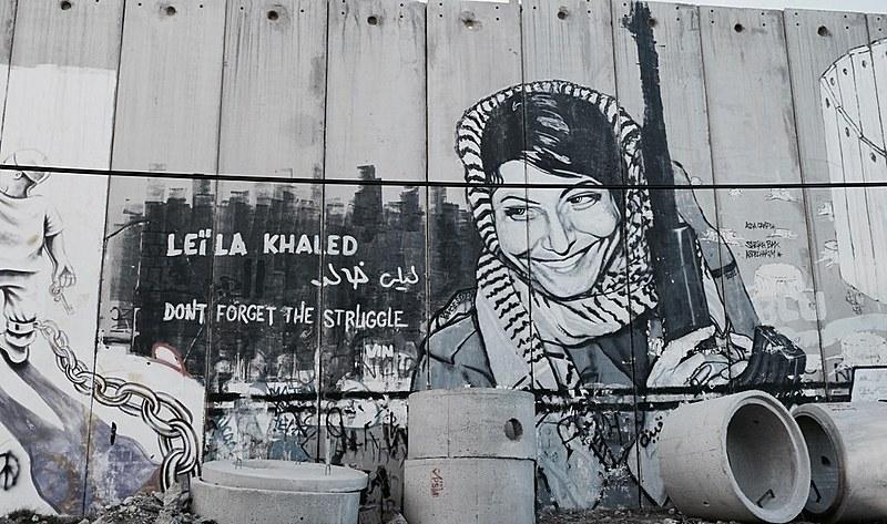 Graffiti no muro da Palestina ocupada em Belém